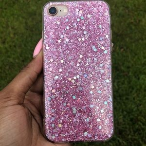 Pink glitter Iphone 7/8 case